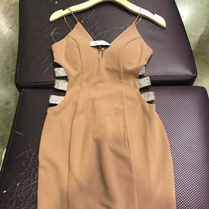 Tan cocktail dress